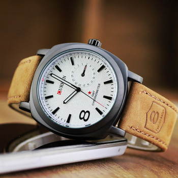 New Fashion Casual Brown and White color watch Famous Brand Quartz Watch Wristwatch