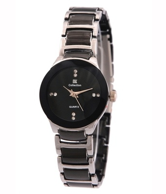 New Fashion Casual Black and Silver color watch Famous Brand Quartz Watch Wristwatch