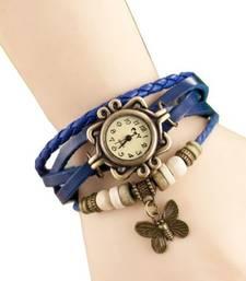 Buy New Fashion Casual Blue color watch Famous Brand Quartz Watch Wristwatch watch online