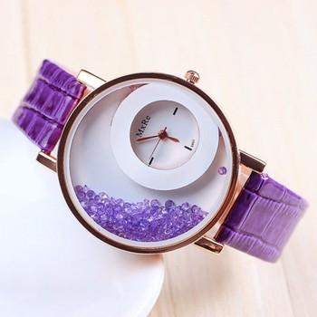 New Fashion Casual Purple color watch Famous Brand Quartz Watch Wristwatch