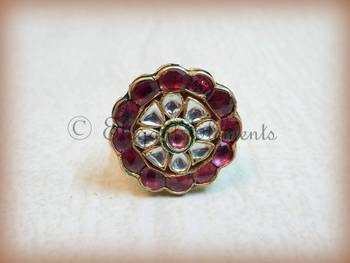 Kundan polki cocktail ring