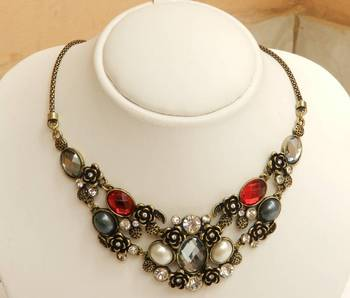 Multi Colour Statement Necklace