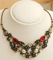 Buy Multi Colour Statement Necklace gifts-for-her online