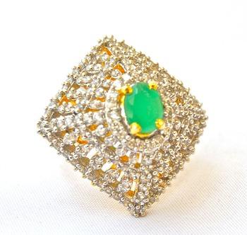 Modern Diamond Cocktail Ring