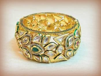 Classic... Elegant...royal kundan kada bracelet