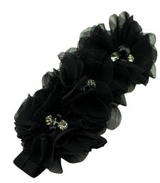 Buy Shop Online Smart Black Floral headband for Cute Girls hair-accessory online