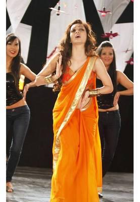 Pooja Salvi Yellow Bollywood Replica Saree