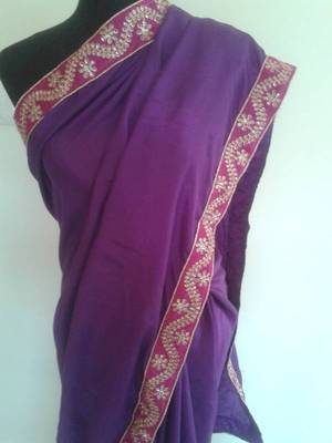 Purple Saree