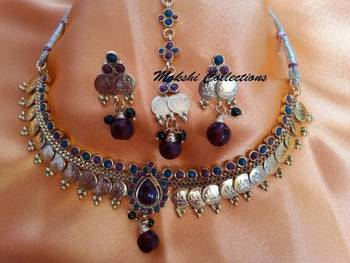 Lovely Lakshmi Kasu Necklace set for children