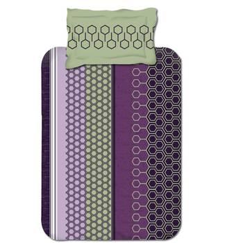 hvmSingle Bedsheet,Lavender