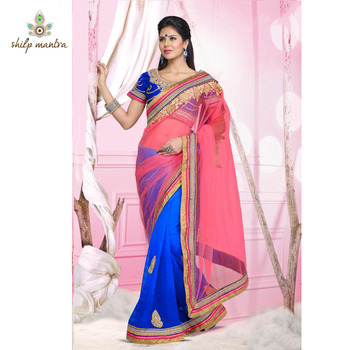 lovely designer party wear saree