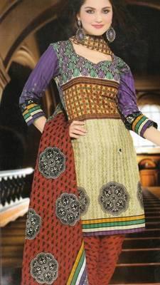 Dress material cotton designer prints unstitched salwar kameez suit d.no NZ2001