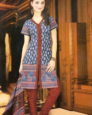 Dress material cotton designer prints unstitched salwar kameez suit d.no NZ2002