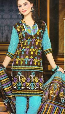 Dress material cotton designer prints unstitched salwar kameez suit d.no NZ2005