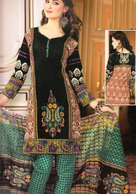 Dress material cotton designer prints unstitched salwar kameez suit d.no NZ2008