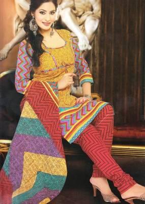 Dress material cotton designer prints unstitched salwar kameez suit d.no NZ2012