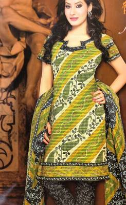 Dress material cotton designer prints unstitched salwar kameez suit d.no NZ2015