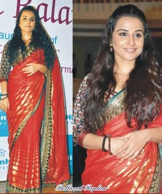 Vidya Balan 60GM ussar Silk Sequins work Bollywood Style Saree
