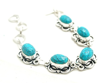 Sizzling Silver plated crystal bracelet