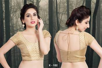 Brocade patterned Ready Made Saree Blouse - Padded - x 152 - Designer Vama Blouse collection from Muhenera