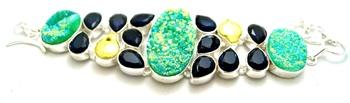 Stylish big stone silver plated junglee bracelet