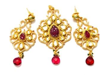 Royal kundan pendant set