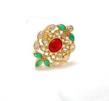 Premium quality adjustable antique polki rings