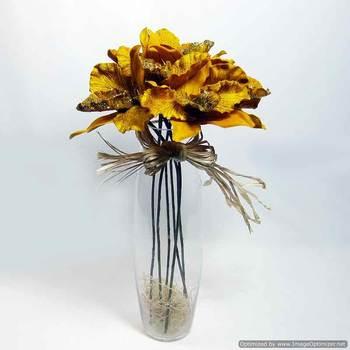 Glitter Velvet Orchids - Golden