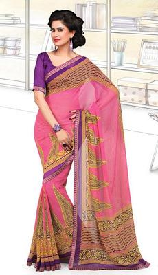 Designer Exclusive Printed Saree With Designer Blouse