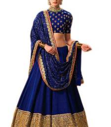 Buy Blue embroidery cotton ghagra choli ghagra-choli online