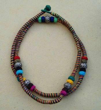 multi color wrap necklace