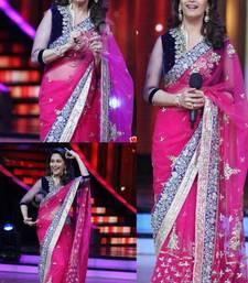 Madhuri dixit bollywood pink net saree