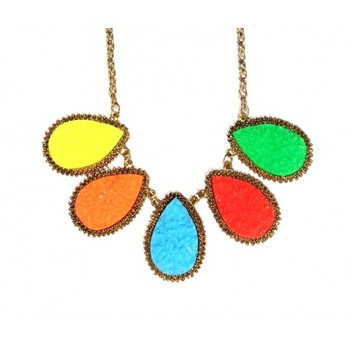 Candy Gem Statement Necklace