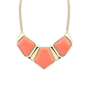 Peach Orange Statement Necklace