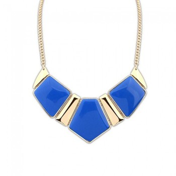 Blue Stones Statement Neckpiece