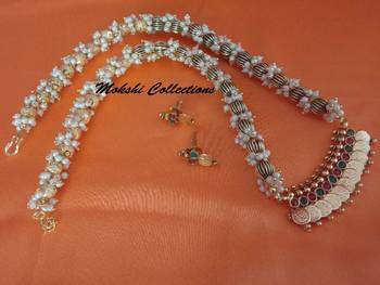 Beautiful Multi-Color Lakshmi Pendant Set