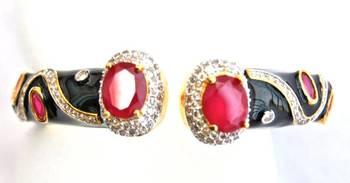 Black Enamel Ruby Bracelet