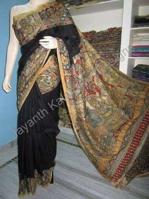 Pen Kalamkari Uppada pattu saree