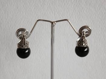 Swiss Marcasite Silver Earrings
