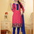 peach color embroidered salwar suit
