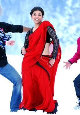 Kajal Agarwal Red Bollywood Replica Saree