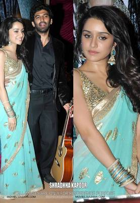 Shraddha kapoor Light Green Bollywood Replica Saree