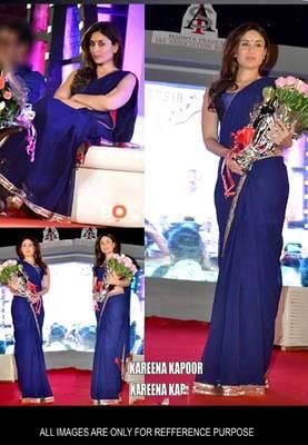 kareena Kapoor Blue Bollywood Replica Saree