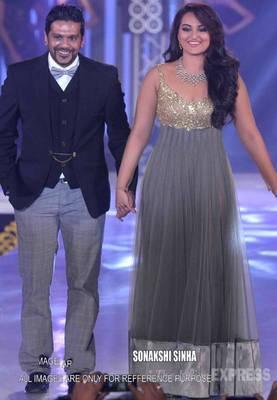 Sonakshi Sinha Grey Lehenga/Dress