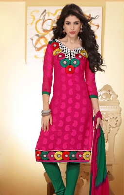 gracefully designed embroidery salwar suit