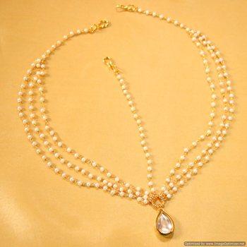 Kundan Pear Shaped Matha Patti