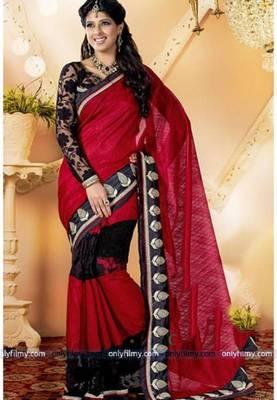 Aishwarya Sakhuja Red Saree