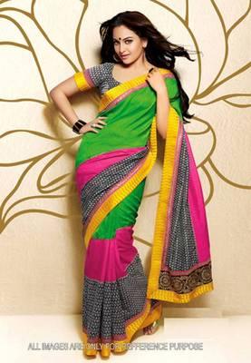 Sonakshi Sinha Multicolor Saree
