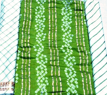 HandMade Cotton Slik Bhandhni Dress Material