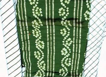 HandMade Cotton Slik Bhandhni Dress Material